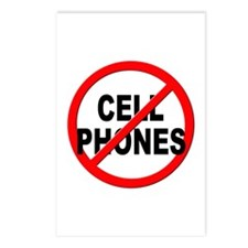 Anti / No Cell Phones Postcards (Package of 8)
