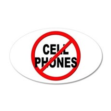 Anti / No Cell Phones Wall Decal