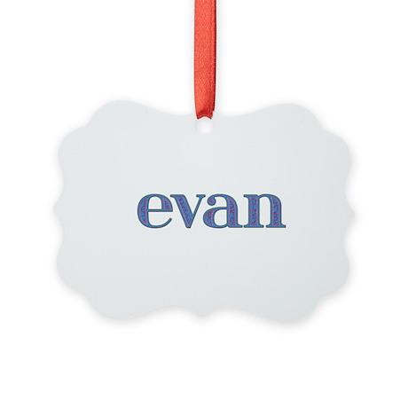 Evan Blue Glass Picture Ornament