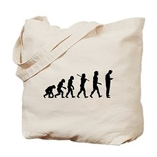 Evolution of Man Texting Tote Bag