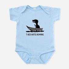 T-Rex Hates Rowing Infant Bodysuit