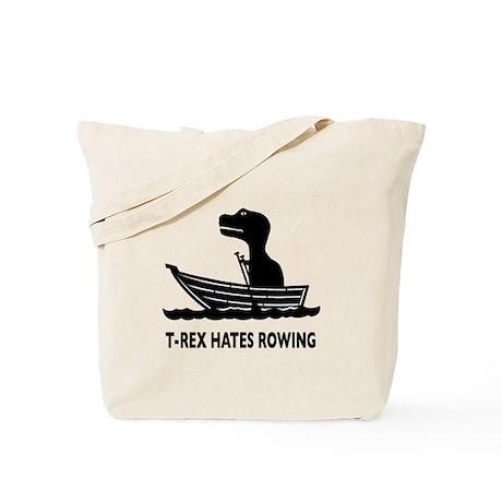 T-Rex Hates Rowing Tote Bag