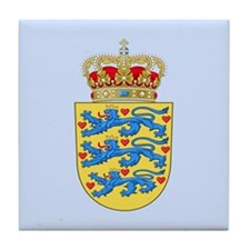 Denmark Coat Of Arms Tile Coaster
