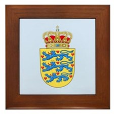 Denmark Coat Of Arms Framed Tile