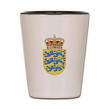 Denmark Coat Of Arms Shot Glass