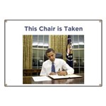 Obama: This Chair is Taken Banner