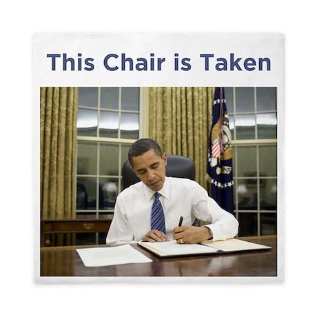 Obama: This Chair is Taken Queen Duvet