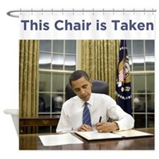 Obama: This Chair is Taken Shower Curtain