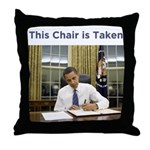 Obama: This Chair is Taken Throw Pillow