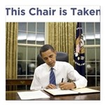 Obama: This Chair is Taken Square Car Magnet 3