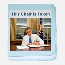 Obama: This Chair is Taken baby blanket