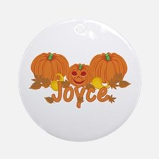Halloween Pumpkin Joyce Ornament (Round)