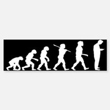Evolution of Man Texting Sticker (Bumper)