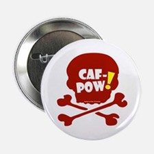 """Caf-Pow Skull 2.25"""" Button (10 pack)"""