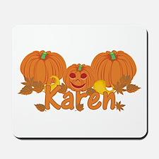 Halloween Pumpkin Karen Mousepad