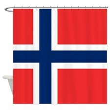 Norway Flag Shower Curtain