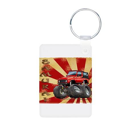 Red Suzuki Samurai Aluminum Photo Keychain