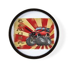 Red Suzuki Samurai Wall Clock