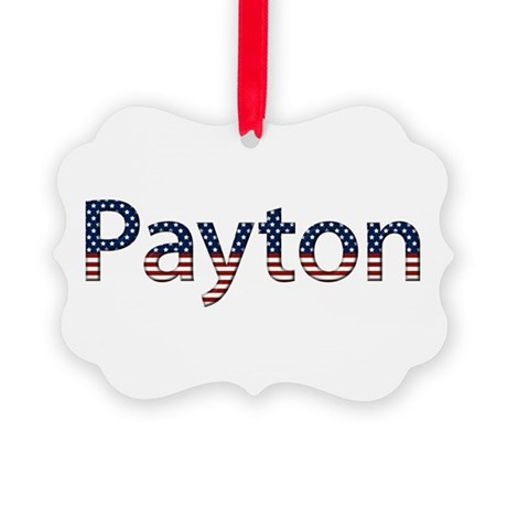 Payton Stars and Stripes Picture Ornament