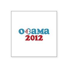 """Obama Heart 2012 Square Sticker 3"""" x 3"""""""