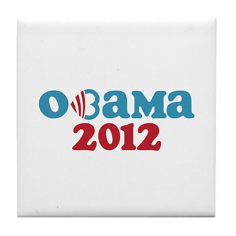 Obama Heart 2012 Tile Coaster
