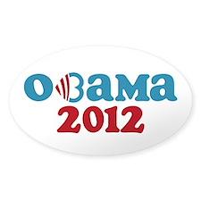 Obama Heart 2012 Stickers