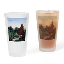 Vintage Fantoft Stave Church Drinking Glass