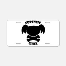 Forensic Chick Aluminum License Plate