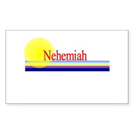 Nehemiah Rectangle Sticker