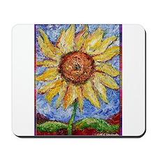 Sunflower!Colorful flower art! Mousepad
