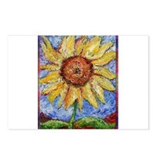 Sunflower!Colorful flower art! Postcards (Package