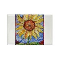 Sunflower!Colorful flower art! Rectangle Magnet