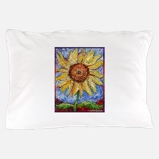 Sunflower!Colorful flower art! Pillow Case