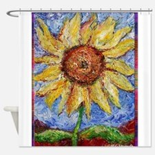 Sunflower!Colorful flower art! Shower Curtain
