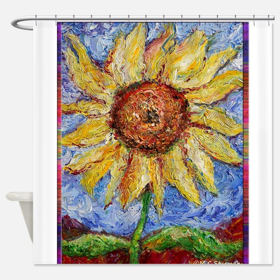 Sunflower!Colorful flower art! Shower Curtain