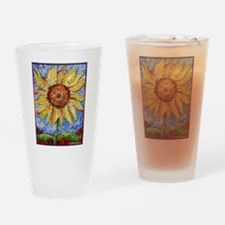 Sunflower!Colorful flower art! Drinking Glass