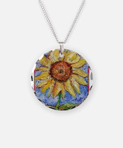 Sunflower!Colorful flower art! Necklace