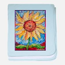 Sunflower!Colorful flower art! baby blanket