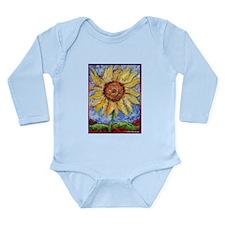 Sunflower!Colorful flower art! Long Sleeve Infant