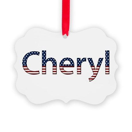 Cheryl Stars and Stripes Picture Ornament
