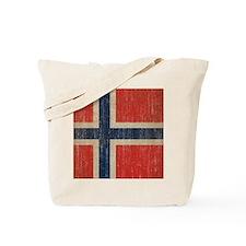 Vintage Norway Flag Tote Bag