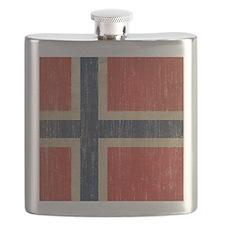 Vintage Norway Flag Flask