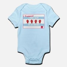 Chicago Teachers Flag Infant Bodysuit