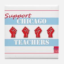 Chicago Teachers Flag Tile Coaster