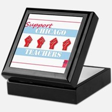 Chicago Teachers Flag Keepsake Box