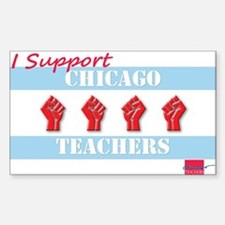 Chicago Teachers Flag Decal