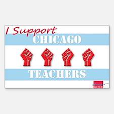 Chicago Teachers Flag Sticker (Rectangle)