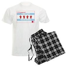 Chicago Teachers Flag Pajamas