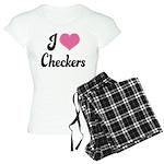 I Love Checkers Women's Light Pajamas