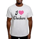 I Love Checkers Light T-Shirt